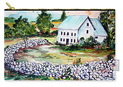 Carry-all Pouch featuring the painting House In Bosnia H Kalinovik by Roberto Gagliardi