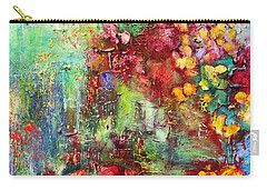 Carry-all Pouch featuring the painting House In The Garden by Teresa Wegrzyn