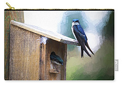 Carry-all Pouch featuring the photograph House Of Bluebirds by James BO Insogna