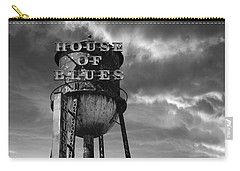 Carry-all Pouch featuring the photograph House Of Blues B/w by Laura Fasulo