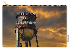 Carry-all Pouch featuring the photograph House Of Blues  by Laura Fasulo
