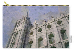 Carry-all Pouch featuring the painting House Of Faith by Greg Collins
