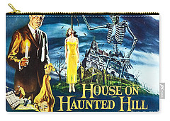 House On Haunted Hill Poster Classic Horror Movie  Carry-all Pouch