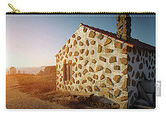 Carry-all Pouch featuring the photograph House On The Cliff by Carlos Caetano
