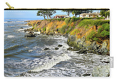 Carry-all Pouch featuring the photograph House On The Point Cayucos California by Barbara Snyder