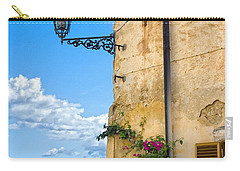 House With Bougainvillea Street Lamp And Distant Sea Carry-all Pouch