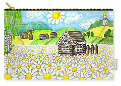 House With Camomiles, Painting Carry-all Pouch