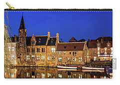 Houses By A Canal - Bruges, Belgium Carry-all Pouch