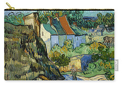 Carry-all Pouch featuring the painting Houses In Auvers by Van Gogh