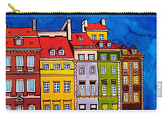 Houses In The Oldtown Of Warsaw Carry-all Pouch