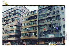 Houses Of Kowloon Carry-all Pouch by Florian Wentsch
