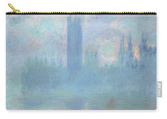 Houses Of Parliament  London Carry-all Pouch by Claude Monet