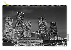 Houston By Night In Black And White Carry-all Pouch