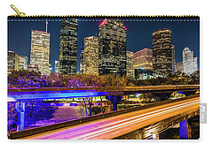 Carry-all Pouch featuring the photograph Houston Skyline From I-45 by Andy Crawford
