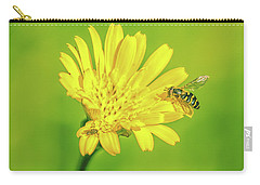 Carry-all Pouch featuring the photograph Hoverfly June 2016. by Leif Sohlman
