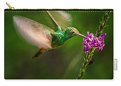 Carry-all Pouch featuring the photograph Hovering In The Vervain  by Rikk Flohr