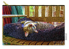 Carry-all Pouch featuring the photograph How My Cat Looks When I Am On Acid by John Kolenberg