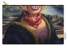 Carry-all Pouch featuring the painting Howdy Doovinci by James W Johnson