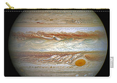 Carry-all Pouch featuring the photograph Hubble Captures Vivid Auroras In Jupiter's Atmosphere by Nasa