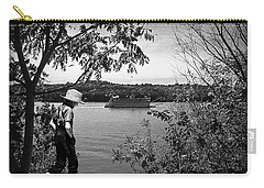 Huck Finn Type Walking On River  Carry-all Pouch