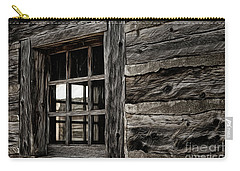 Carry-all Pouch featuring the photograph Hudson Bay Fort Window by Brad Allen Fine Art