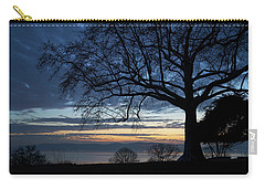 Hudson River Blue Hour In Winter Carry-all Pouch