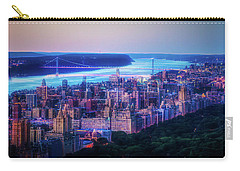 Carry-all Pouch featuring the photograph Hudson River Sunset by Theodore Jones