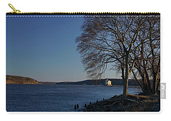 Hudson River With Lighthouse Carry-all Pouch