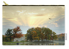 Carry-all Pouch featuring the photograph Hudson Springs Morning by Ann Bridges