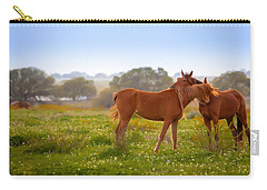 Carry-all Pouch featuring the photograph Hug It Out by Melinda Ledsome