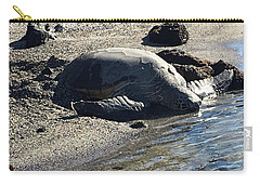 Huge Sea Turtle Carry-all Pouch by Karen Nicholson