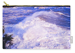 Carry-all Pouch featuring the photograph Huge Wave In Ligurian Sea by Silvia Ganora
