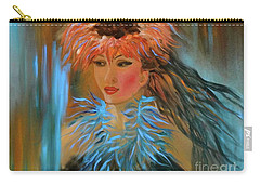 Hula In Turquoise Carry-all Pouch by Jenny Lee