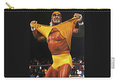 Hulk Hogan Oil On Canvas Carry-all Pouch