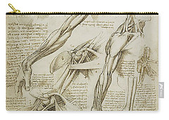 Human Arm Study Carry-all Pouch
