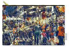 Carry-all Pouch featuring the photograph Human Traffic by Wayne Sherriff