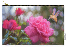 Hummer In The Garden Carry-all Pouch by Kenny Francis