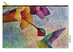 Carry-all Pouch featuring the painting Hummer Time by Hailey E Herrera