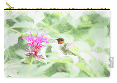 Humming Bird And Bee Balm Carry-all Pouch