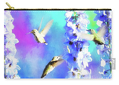 Humming Bird Trio Carry-all Pouch by Suzanne Handel