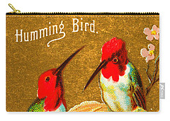 Humming Bird Victorian Tobacco Card By Allen And Ginter Carry-all Pouch