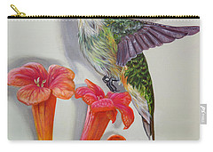 Hummingbird And A Trumpet Vine Carry-all Pouch