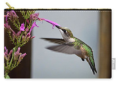 Hummingbird And Agastache Carry-all Pouch