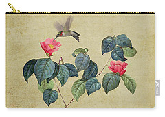 Hummingbird And Japanese Camillea Carry-all Pouch