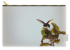Carry-all Pouch featuring the photograph Hummingbird And Lemon Blossoms by Cindy Garber Iverson
