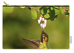 Hummingbird And Manzanita Blossom Carry-all Pouch