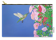 Hummingbird And Petunias Carry-all Pouch