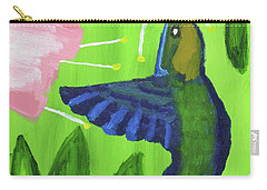 Carry-all Pouch featuring the painting Hummingbird by Artists With Autism Inc