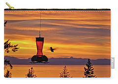 Hummingbird At Sunset. Carry-all Pouch