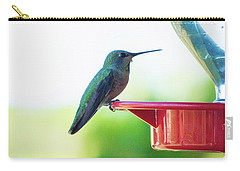 Hummingbird At The Feeder Carry-all Pouch
